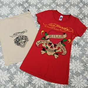 Ed Hardy by Christian Audigier XS Tee & Bag LA